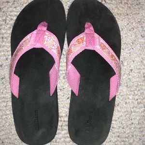 LL Bean wedge flip flops